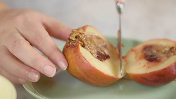 Cranberry and Walnut Baked Apples