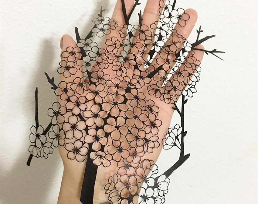 kanako abe's poetic papercuts • art • frankie magazine • australian fashion  magazine online