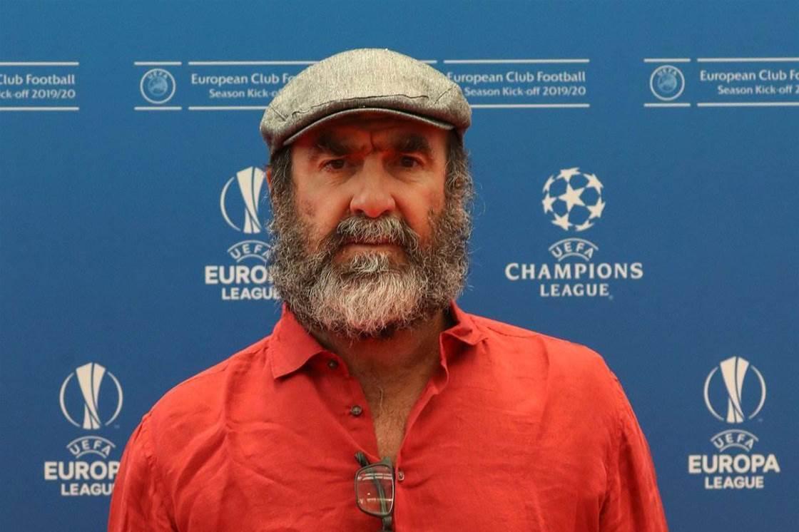 Watch! Cantona's ridiculous speech at UEFA Champions League
