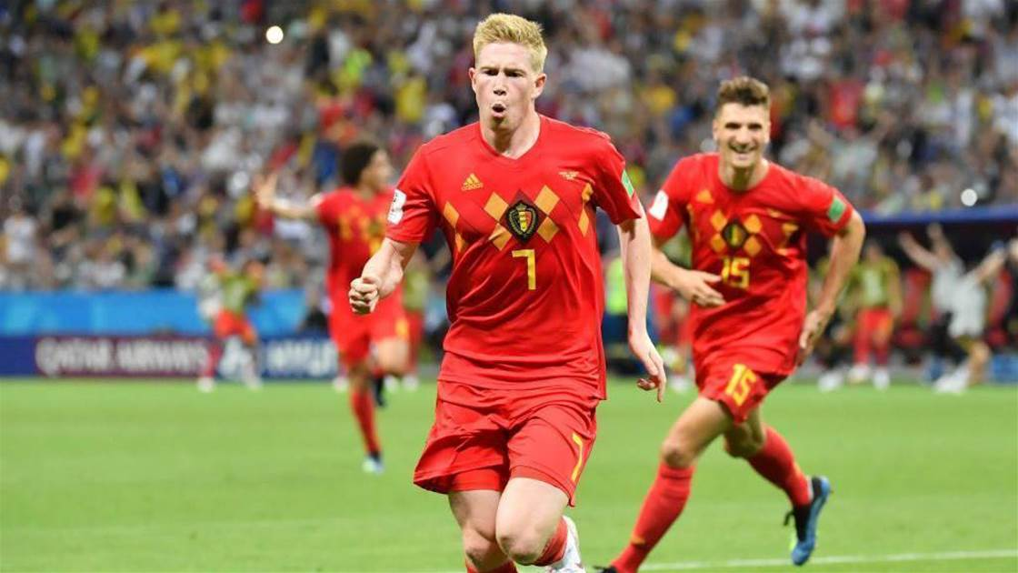 Image result for pic of belgium beat brazil