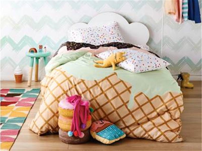 Sack Me Kids Bedding Interiors, Ice Cream Sprinkles Bedding