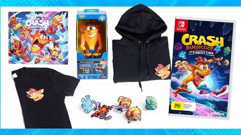 TOTAL GIRL JUL'21 A CRASH BANDICOOT 4: IT'S ABOUT TIME EXCLUSIVE MERCH PACK GIVEAWAY