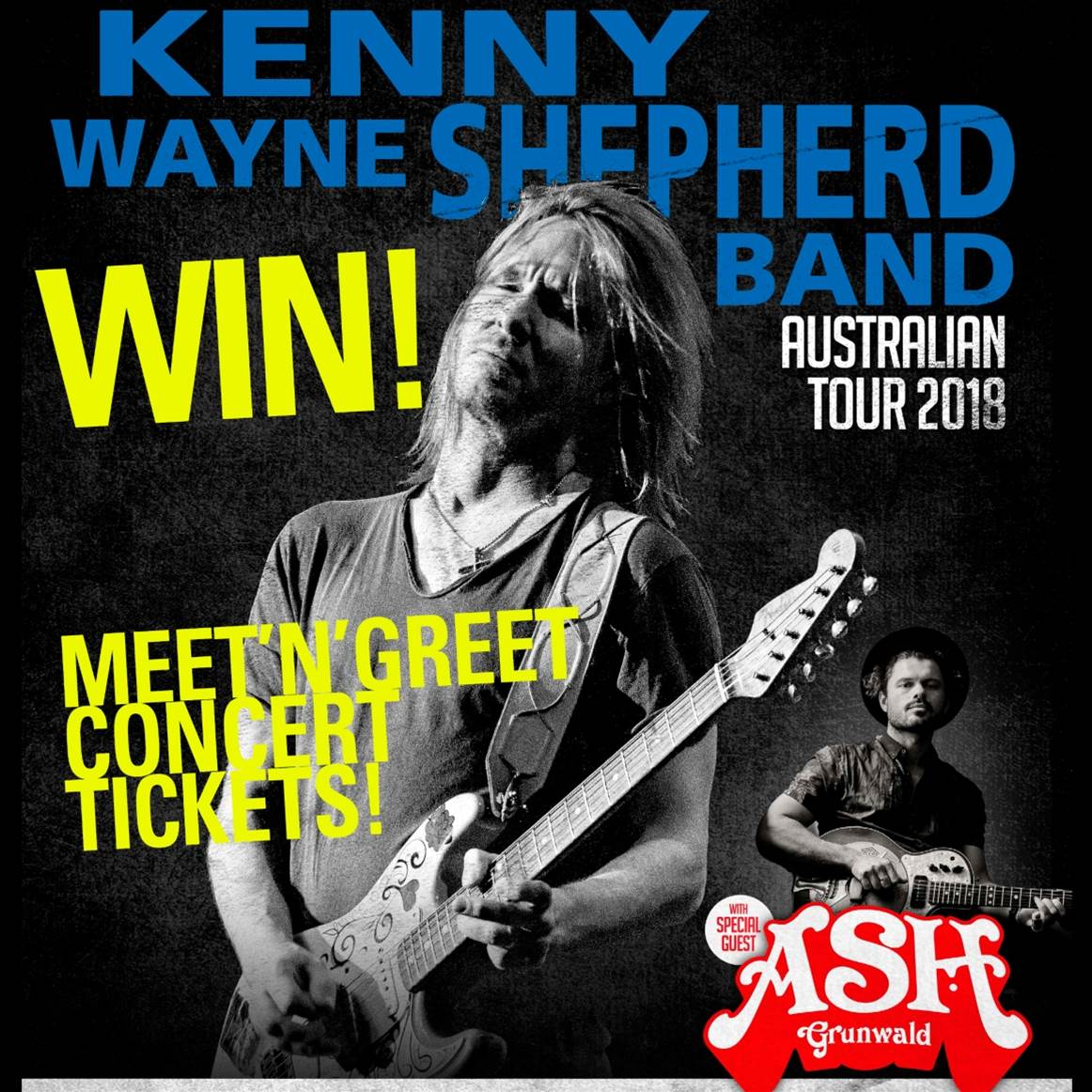 WIN Kenny Wayne Shepherd Band Meet'n'Greet Tickets!