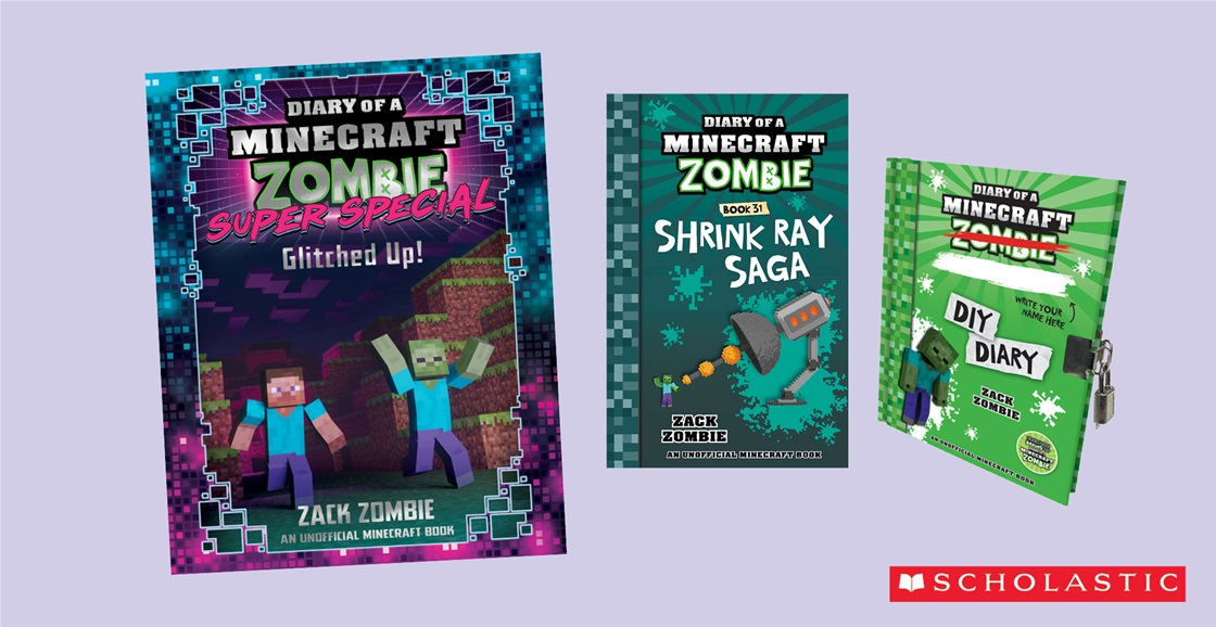 K-ZONE SEP'21 DIARY OF A MINECRAFT ZOMBIE BOOK PACK GIVEAWAY
