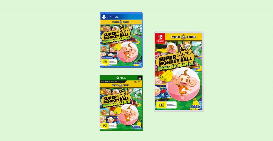 K-ZONE NOV'21 SUPER MONKEY BALL: BANANA MANIA FOR PS4, XBOX ONE OR SWITCH GIVEAWAY