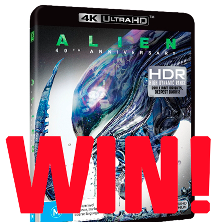 WIN the 40th anniversary ALIEN on 4K Blu-ray!
