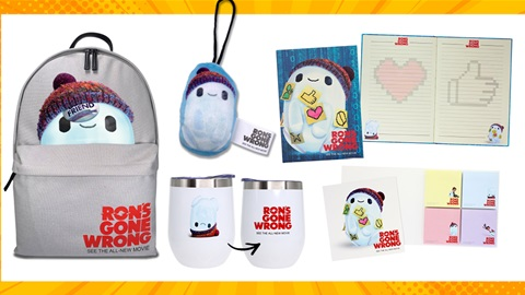 TOTAL GIRL NOV'21 A RON'S GONE WRONG MOVIE MERCH PACK GIVEAWAY