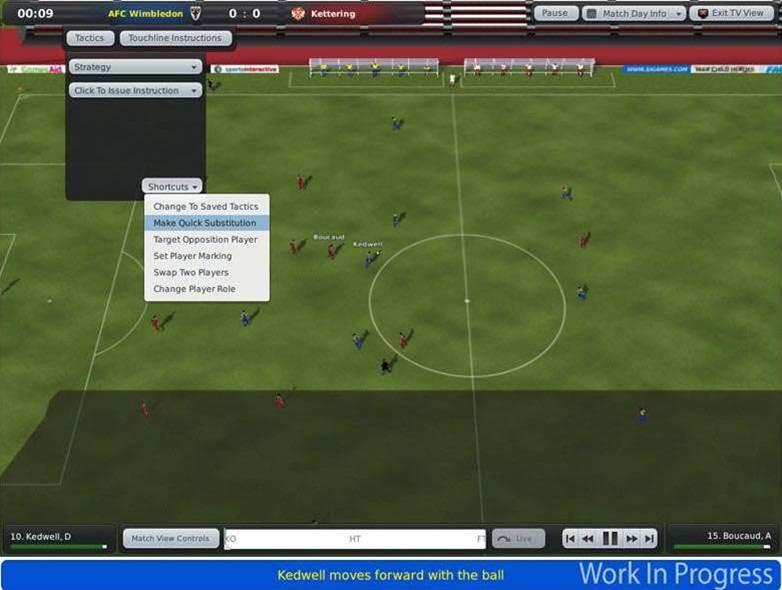 Football Manager 2010 - looks like just a tweak