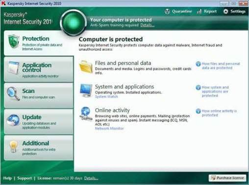Kaspersky's Internet Security 2010