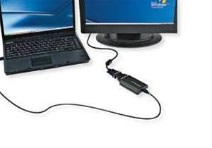 Kensington  Dual  Monitor Adapter, lets you plug in a second screen via USB