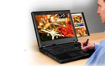 If money were no object: Lenovo's ThinkPad W700ds, the $7,000 laptop with a second screen