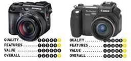 Canon PowerShot Pro 1 and Olympus Camedia C-8080,