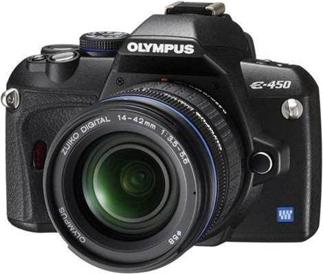 Olympus' E-450 lacks the quality comforts that you'd expect from other DSLRs
