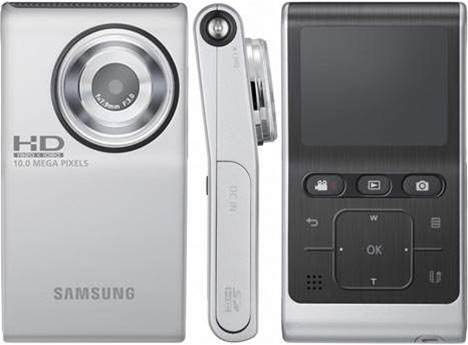 Samsung's HMX-U10 tries to 'out-flip' the pocket video competition with full HD