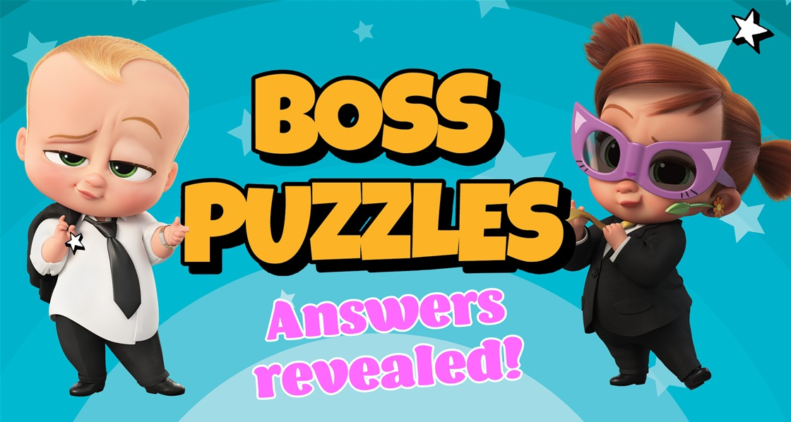 Baby Talk! (SPOILERS) Boss Baby Puzzle Answers Revealed!