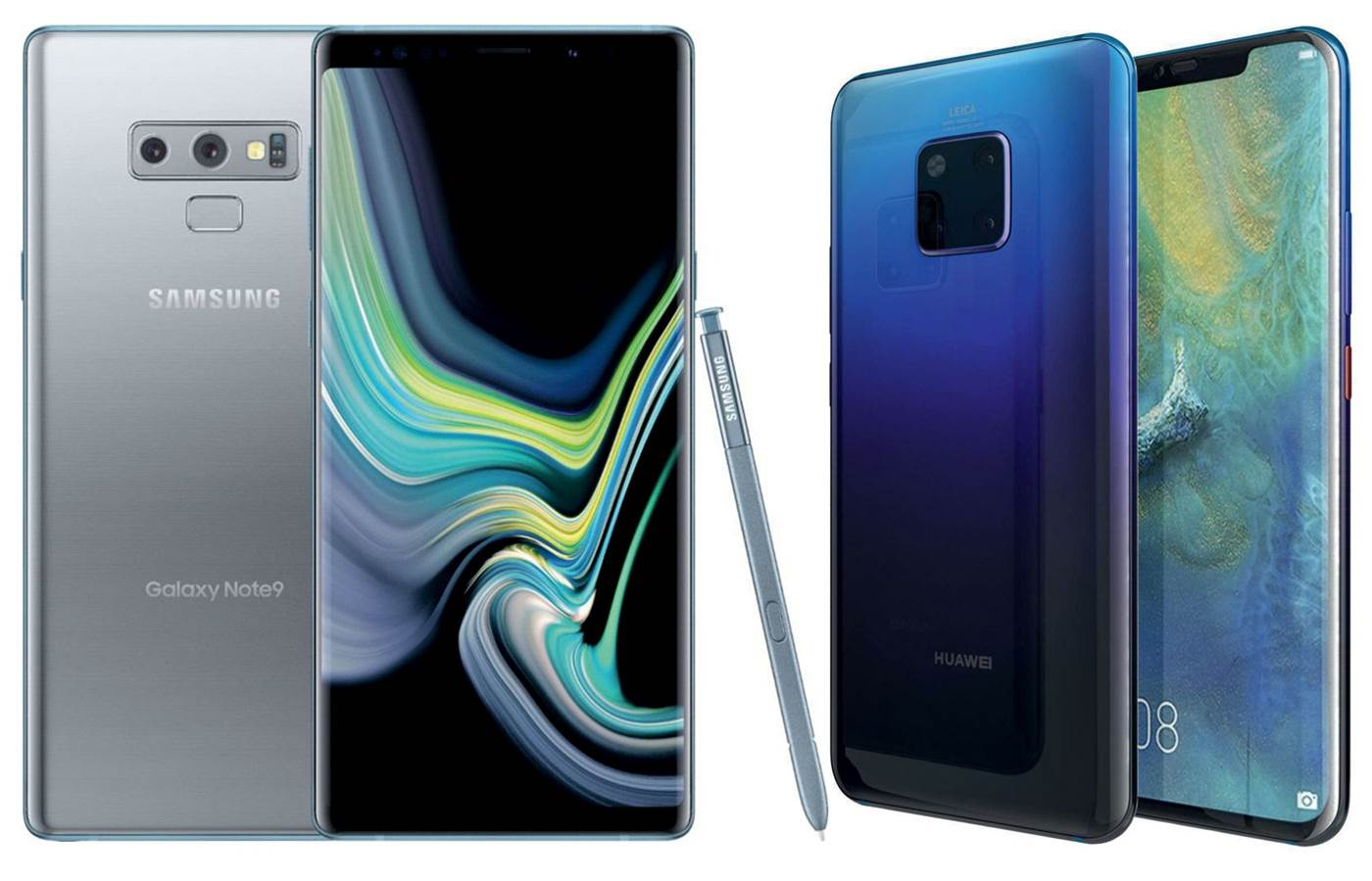Hands-on: Samsung Galaxy Note 9 vs Huawei Mate 20