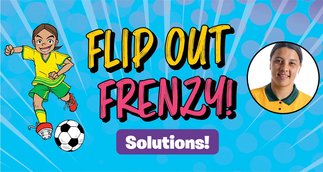 Sam Kerr: Flip Out Frenzy (SPOILERS) puzzle solutions!