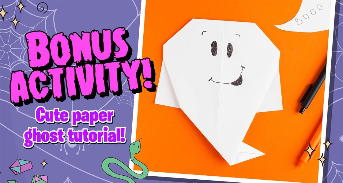 Creepy crafts! Ghostly paper folding bonus activity