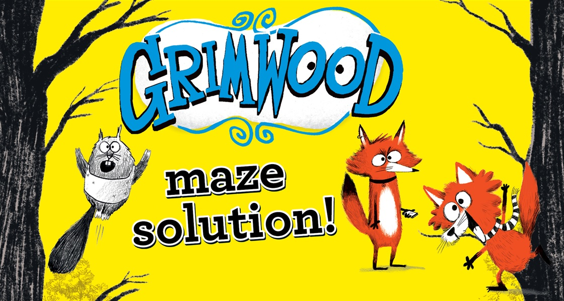 Make it to Grimwood! (SPOILERS: Maze answer revealed!)