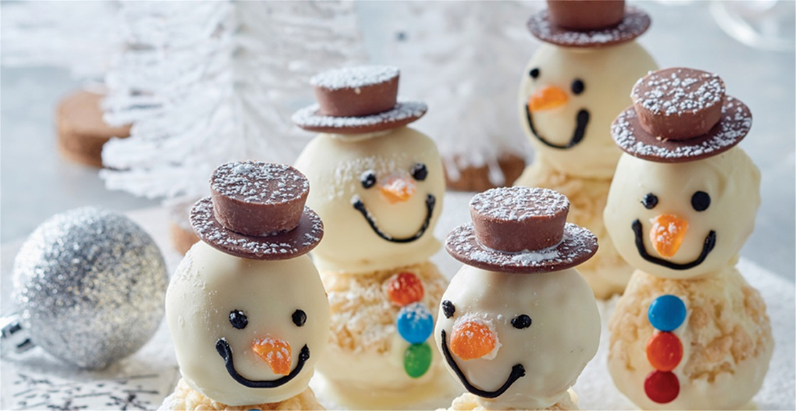White Crackle Snowmen Recipe
