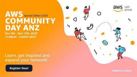 Join us for AWS Community Days - online edition (Nov 9-13)
