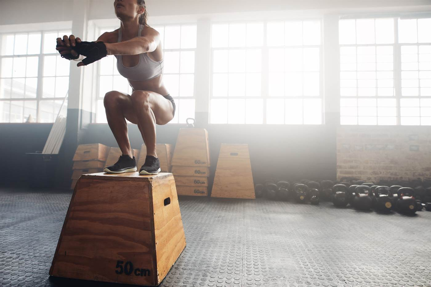 Box Jump variations for cyclists
