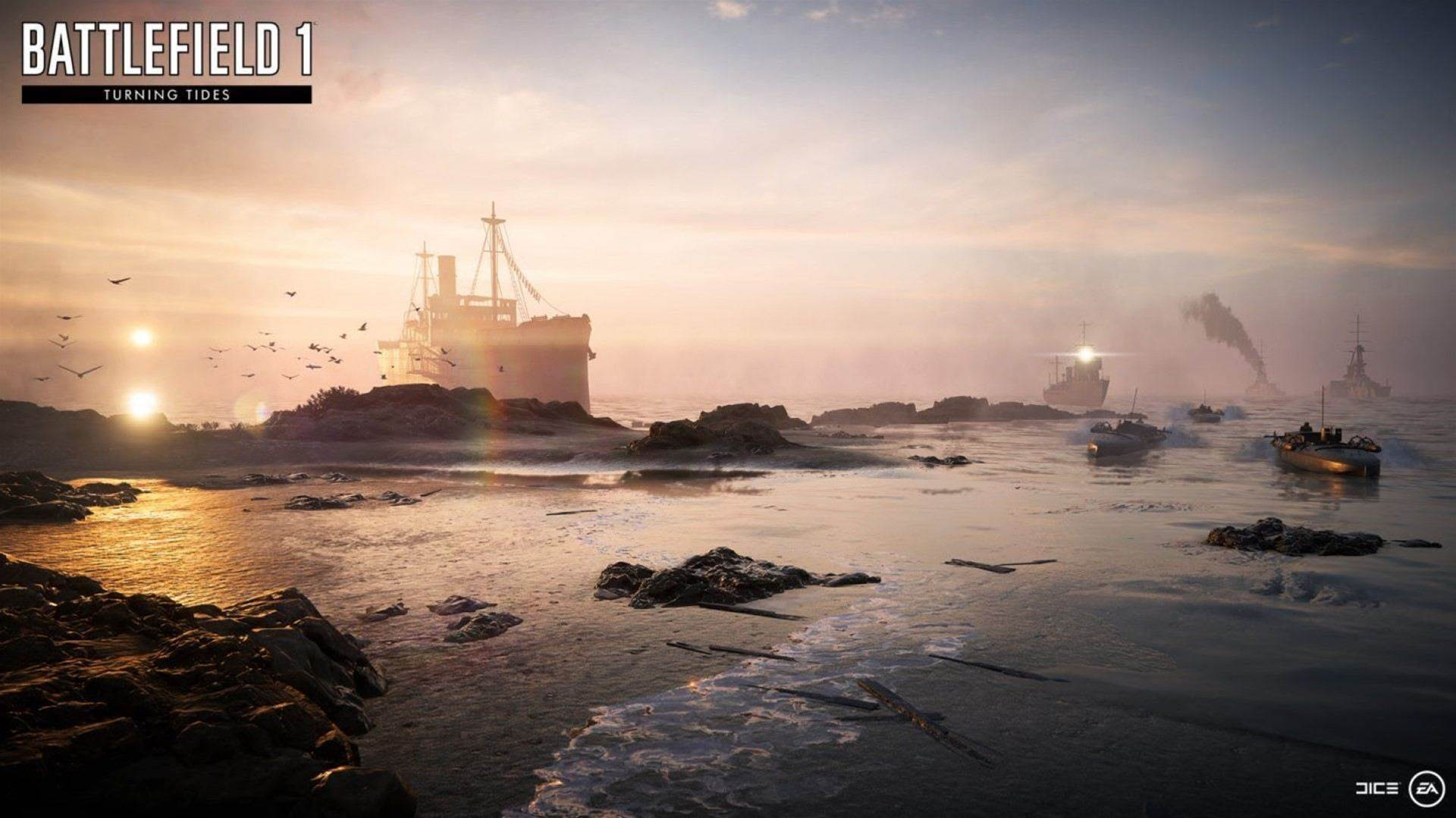 The Northern Sea invades Battlefield 1 in these images