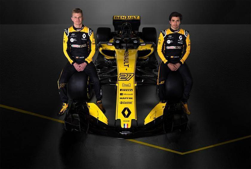 New Renault F1 car unveiled