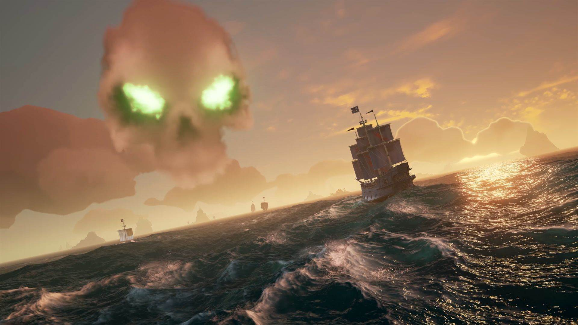 Yarr! A fleet of Sea of Thieves launch screens
