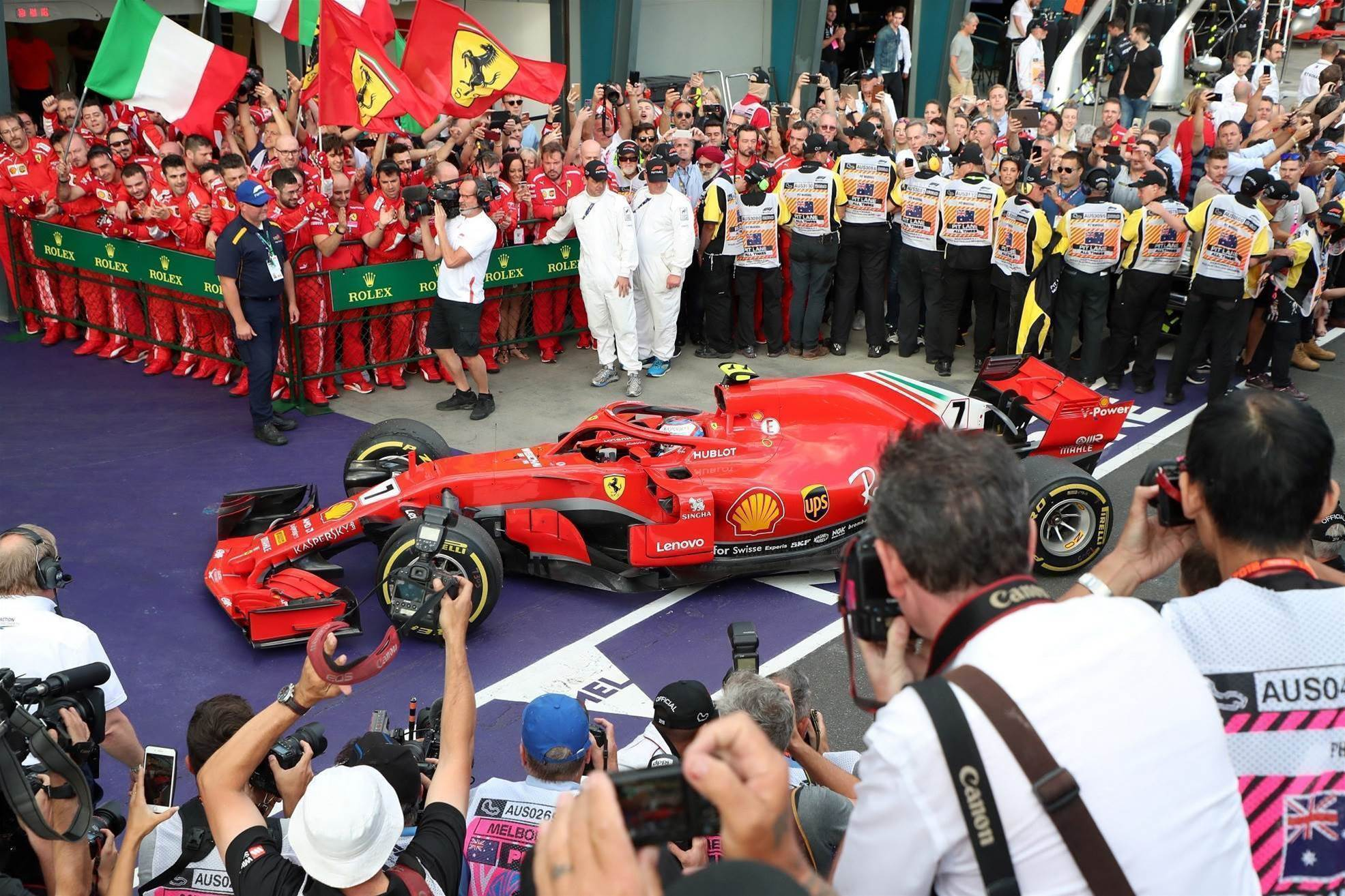 Ferrari crashes Mercedes' party mode