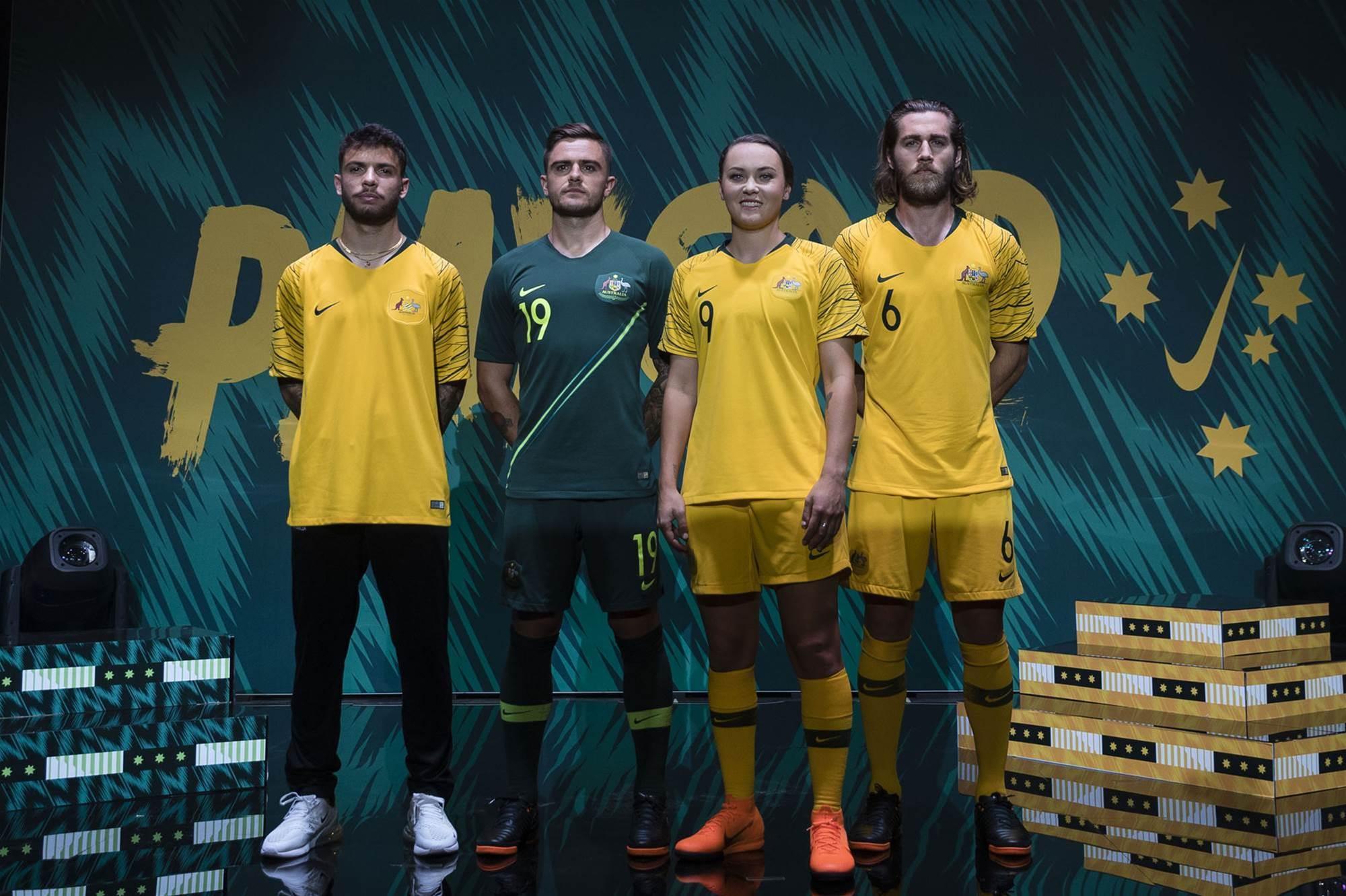 Socceroos and Matildas kit reveal