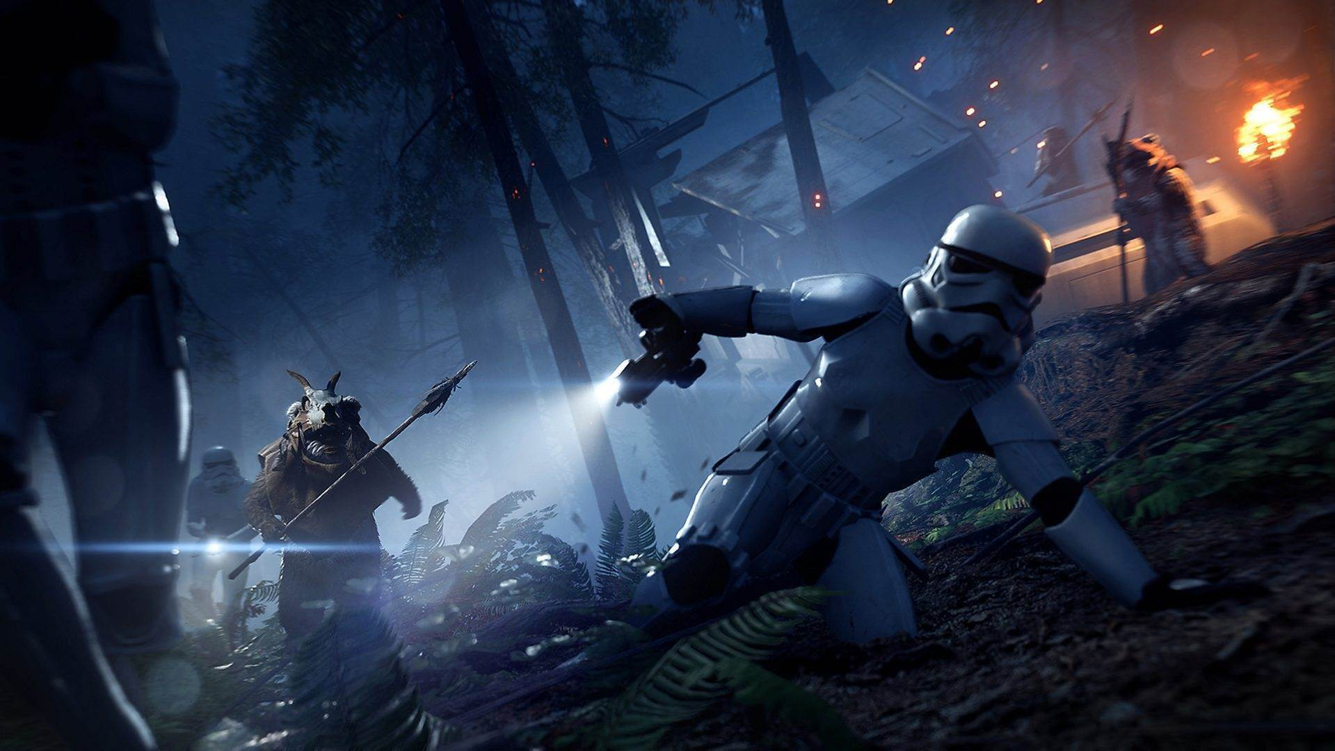 Cuddly killers: Check out Star Wars Battlefront II's Ewok Hunt mode