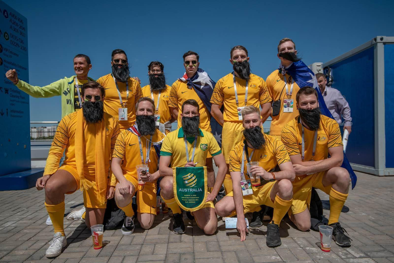C'mon, you Aussies! Roo fans in Kazan pic special