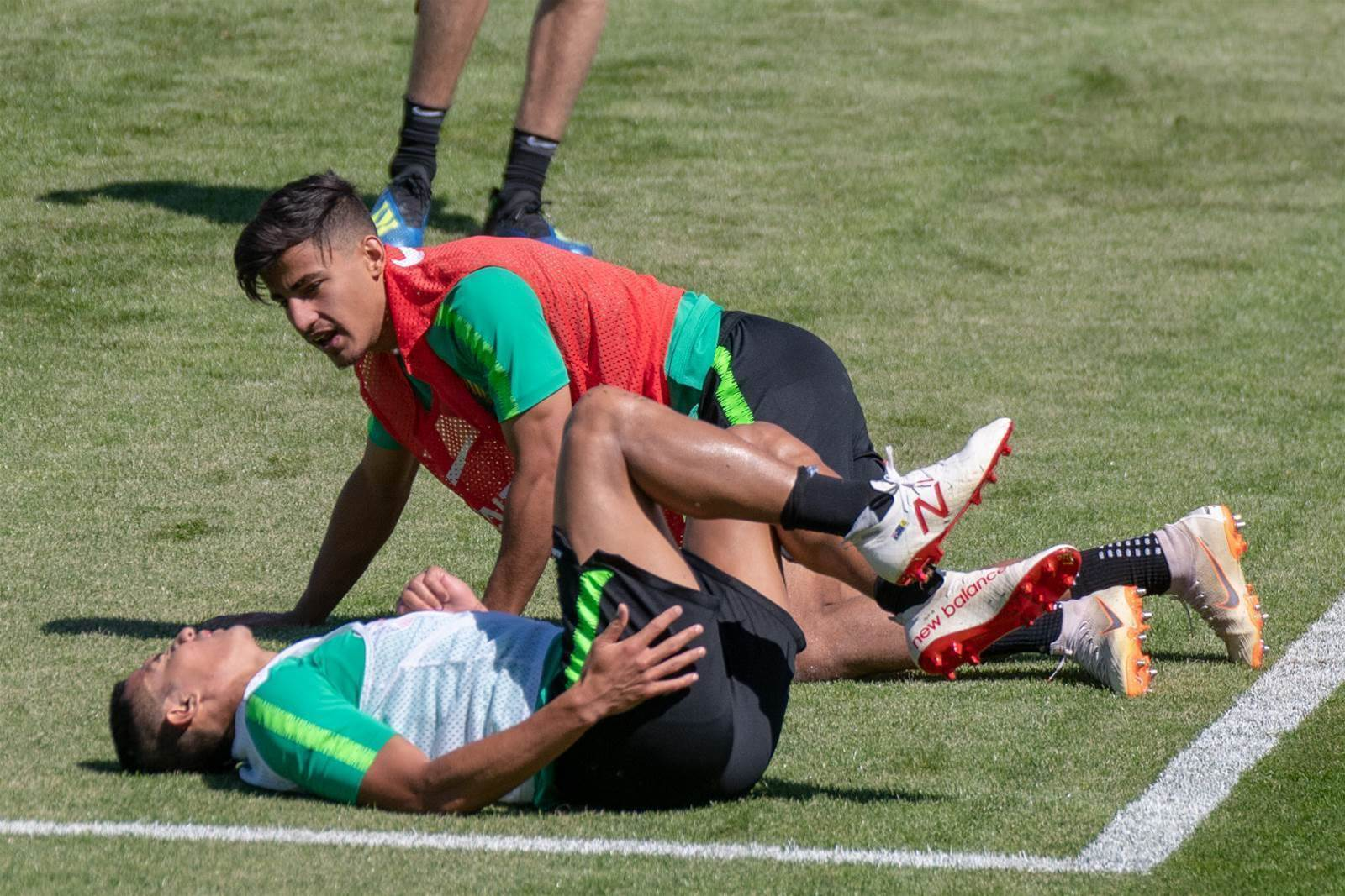 See the moment Arzani feared he'd broken Cahill...