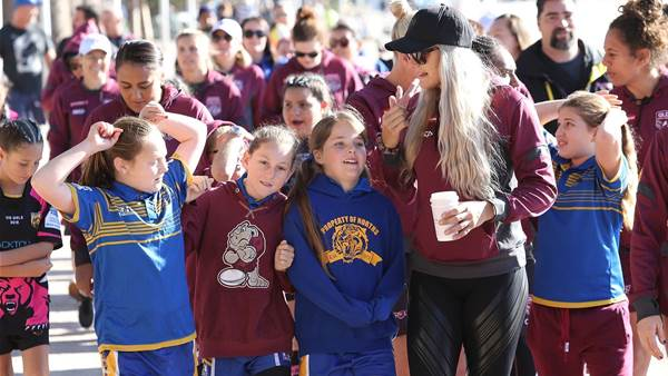 Pic special: Junior State of Origin teams meet the Maroons