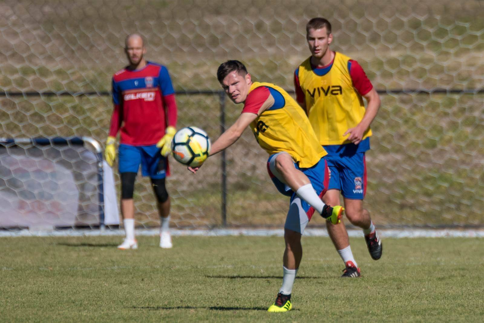 Newcastle Jets train for Spain