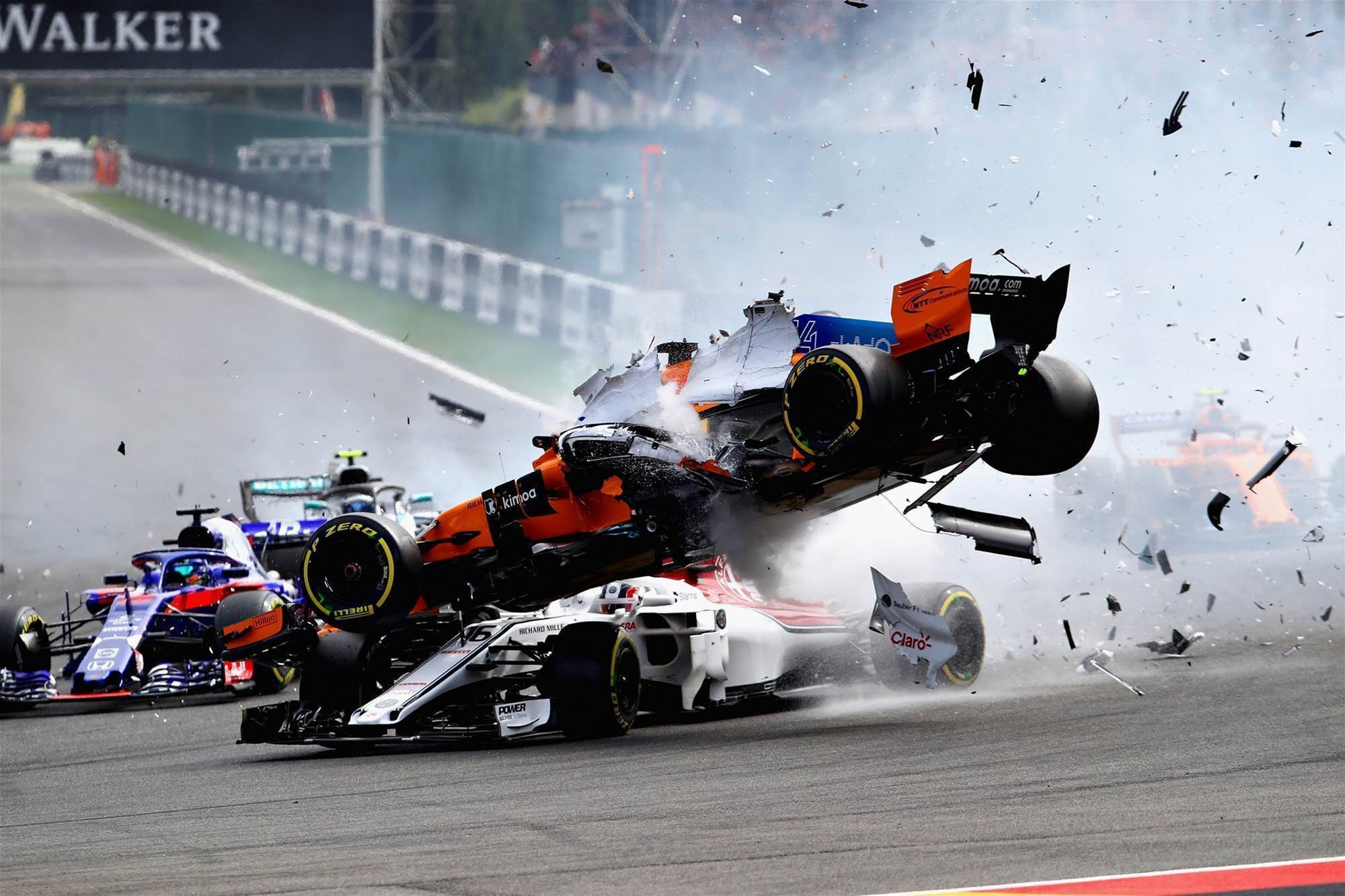 Pic gallery: Alonso's Spa F1 wipeout