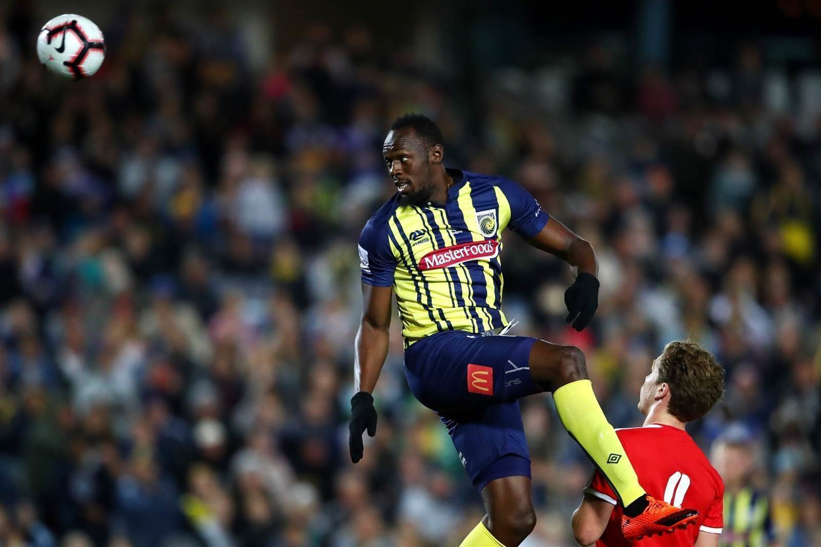 Pics: Usain Bolt's debut for Central Coast Mariners