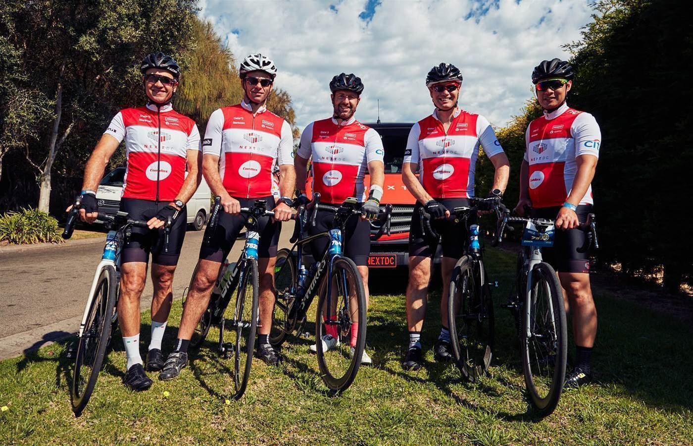 Channel partners join NextDC for charity bike ride