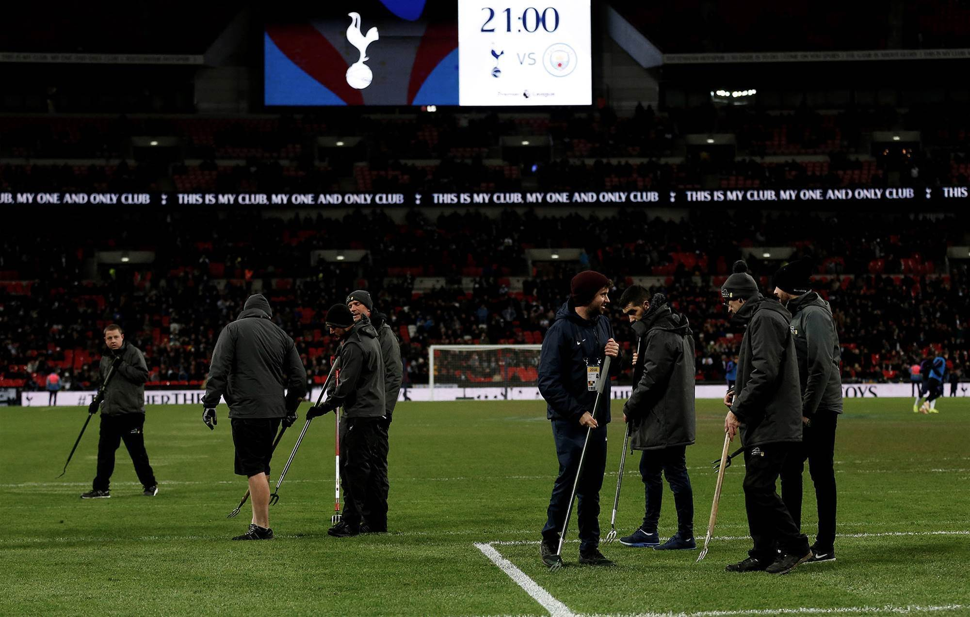 Gallery: Wembley's 'worst' pitch