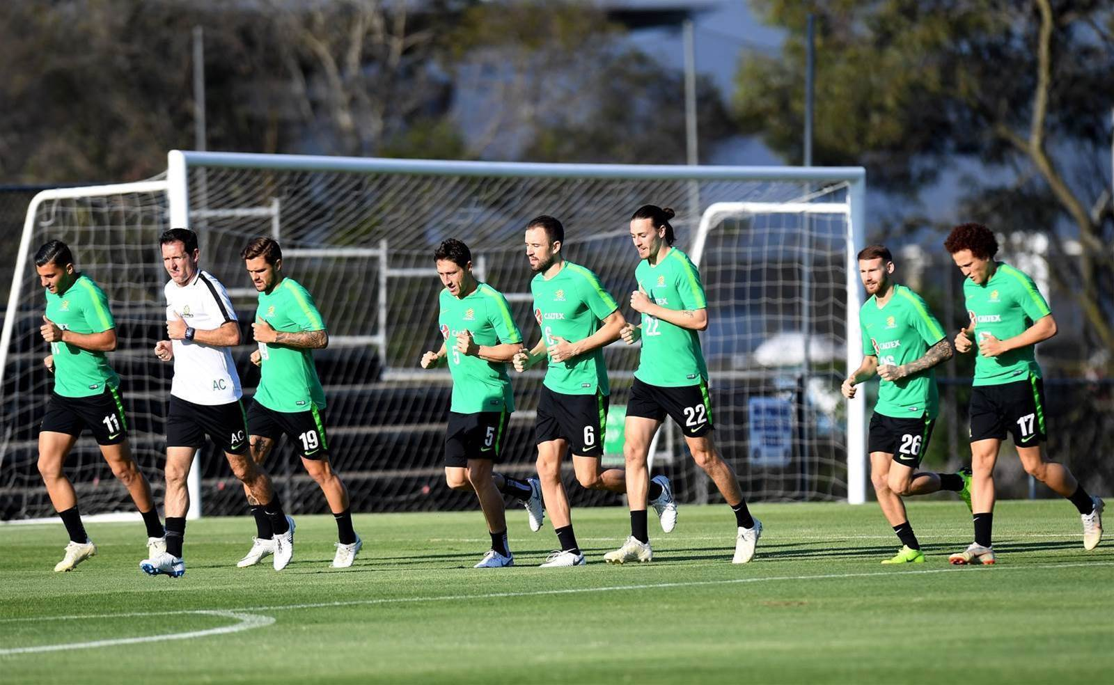 Pic special: Socceroos train in Brisbane