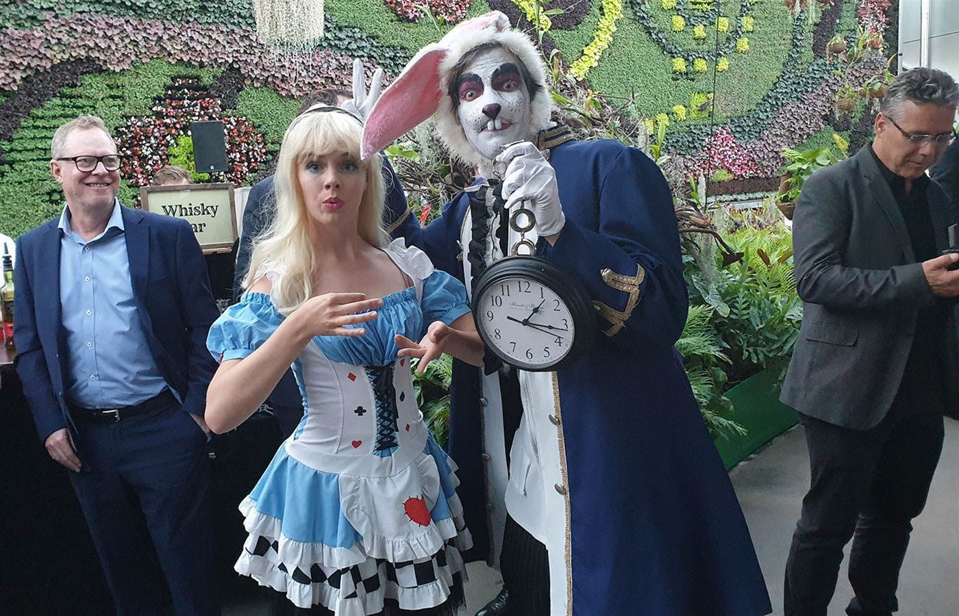 TPG partners and staff party in a lavish Wonderland