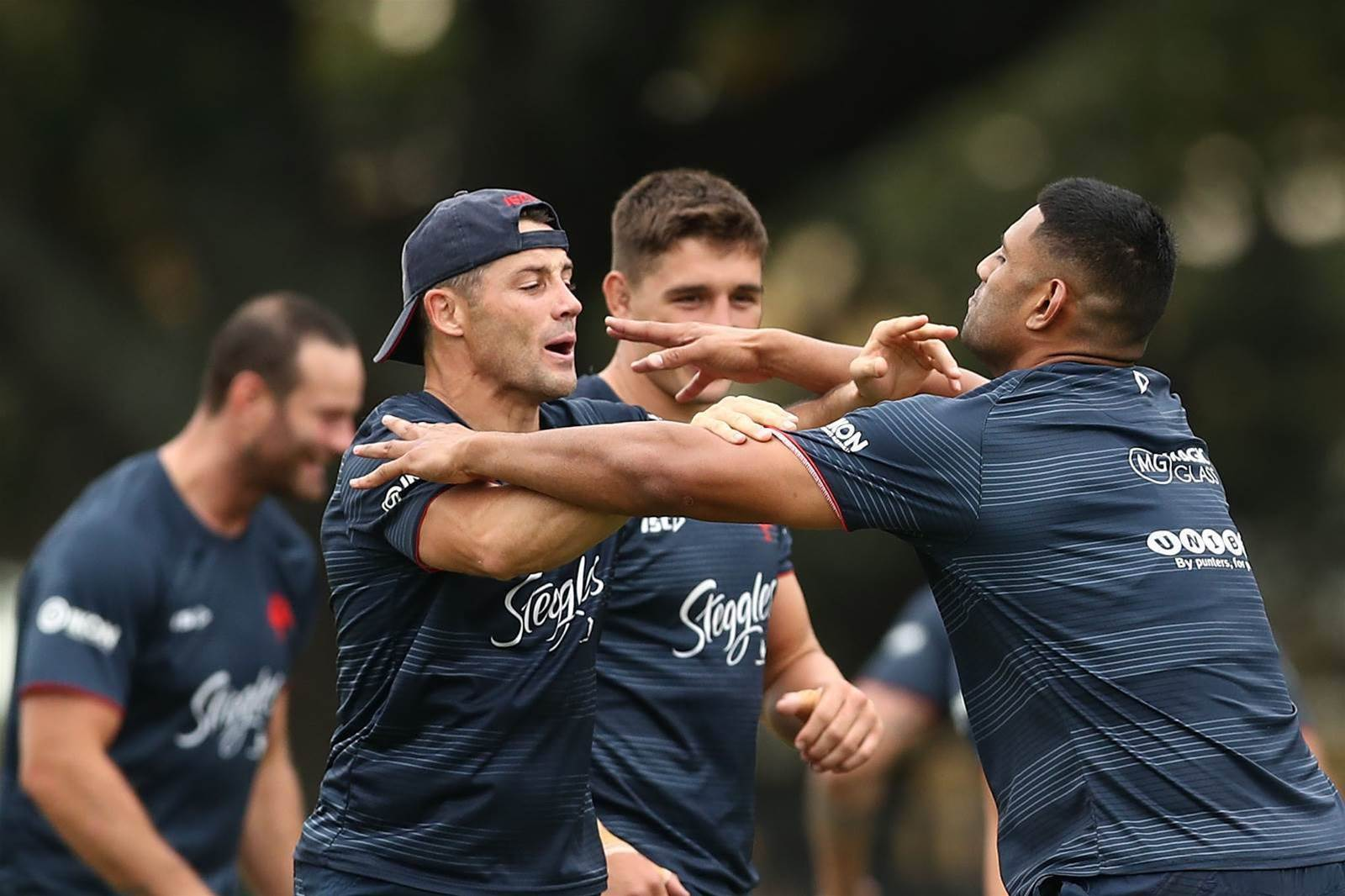 NRL training pic special: Rabbitohs and Roosters