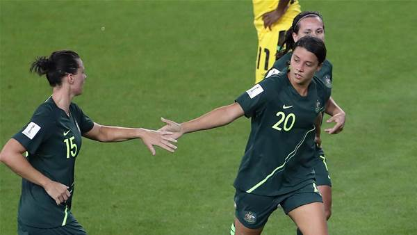 In pics: Sam's Kerr-ific as Matildas smash Jamaica