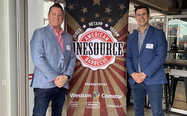 Partners meet the meat at Comstor's OneSource BBQ