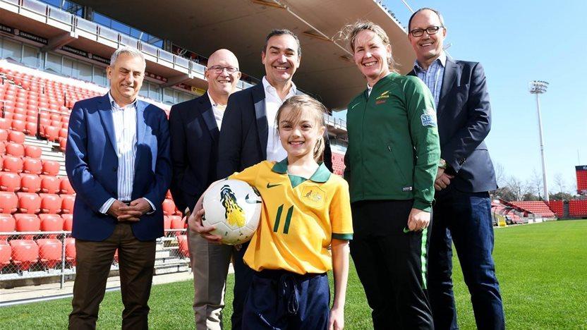 In pics: New stadium glam for Matildas
