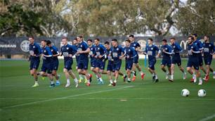 On the sidelines: At Melbourne City training