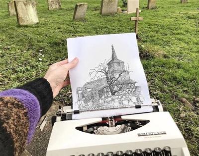 james cook's typewriter art