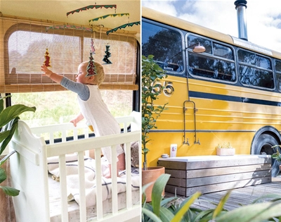 homebodies: emma bäcklund lives in a converted school bus