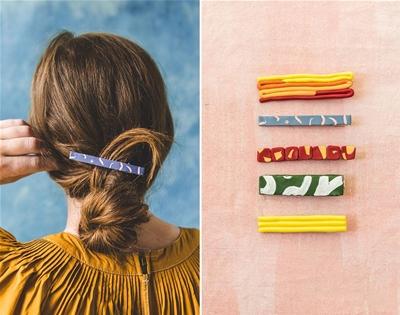 diy clay hair clips